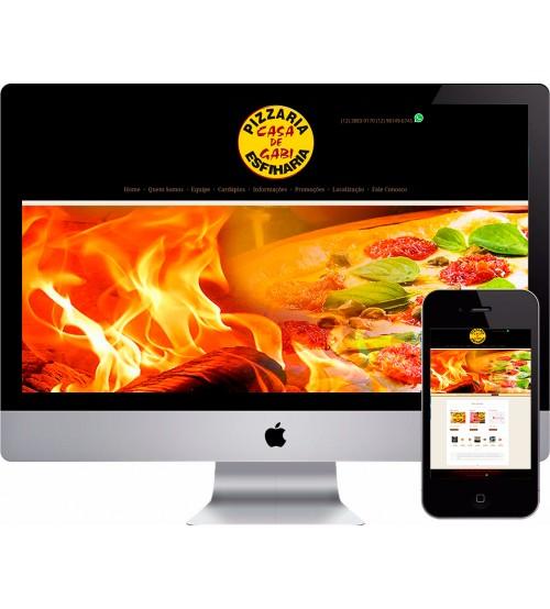 Criação de Site Pizzaria Cardápio